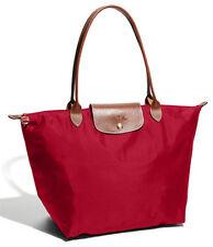 LongChamp pliage folding Long  handle tote bag Red (L)