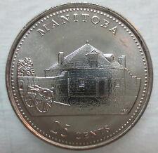 1992 CANADA 25¢ MANITOBA BRILLIANT UNCIRCULATED QUARTER