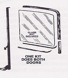 Ford Pickup Truck Deluxe Window Channel Kit 1961-1966
