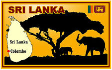 SRI LANKA, MAP & FLAG - SOUVENIR NOVELTY FRIDGE MAGNET - BRAND NEW - GIFT
