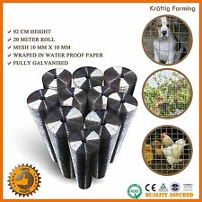 20M WELDED WIRE MESH CONSTRUCTION ANIMAL FENCE PET POULTRY FENCING COOP ELECTRO