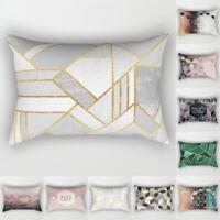 Geometric Marble Rectangle Pillow Case Car Sofa Waist Cushion Cover Home Decor
