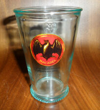 Bacardi Rum Glass x 1 Bacardi Bat Print Logo Embossed Estd Cuba 1862 New Rare