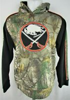 Buffalo Sabres NHL Old Time Hockey Men's Camo Hoodie