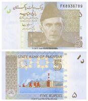Pakistan 5 Rupees 2010 P-53c Banknotes UNC