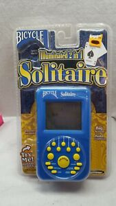 Bicycle SOLITAIRE Electronic Game 2004 Illuminated 2-in-1 Hand Held
