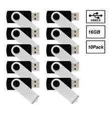 NetShap  16GB (10 -Pack) USB 2.0 Flash Drive / Thumb Drive / Jump Drive Black