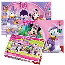 Trefl 2en1 24 + 48 Pièces Enfants Filles Minnie Mouse Daisy Courses Puzzle