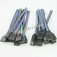 5 x 4PIN MASCHIO+CONNETTORE FEMMINA wire del cavo per LED strisce flessibili RGB