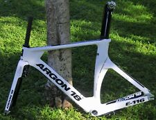 New 2014 White Carbon Fiber Bike Argon 18 E116 TRI Frameset Size S