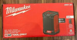 Milwaukee 2951-20 M12 Cordless Radio + Charger New Brand New in BOX