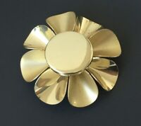Vintage Flower  Brooch  gold tone metal