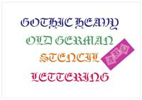 Old German Font Letter Stencil Tiles or Sheet 3 Sizes 350 Micron Mylar FONT011