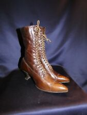 "Fancy Victorian C1900 Leather Women's Shoes Boots 2 3/4"" Heels"