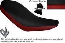 Negro Y Rojo Oscuro Custom Fits Yamaha Yfm Raptor 700 06-13 Doble Cuero Funda De Asiento