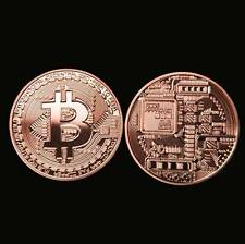 Bitcoin Collectible Physical Coin Red Copper Making Very Nice Uncirculated