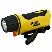 Promate Phantom 5W Underwater Scuba Dive LED Light Torch Gear - Yellow