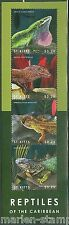 ST. KITTS 2014 REPTILES OF THE CARIBBEAN SHEET OF FOUR MINT NH