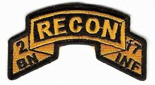 2-17 Infantry Recon Platoon  / Scout Platoon Tab / Army Ranger Scroll Tab Style