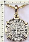 Atocha Piece Of Eight Cob Reale Pirate Silver Coin 14K Gold Bezel Dated 1622