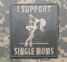 I SUPPORT SINGLE MOMS TACTICAL ARMY ACU USA LIGHT VELCRO® BRAND FASTENER PATCH