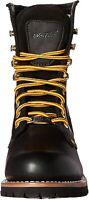 "Ad Tec 9"" Super Logger Steel Toe Boots for Men, Leather, Black, Size 7.0 Sun7"