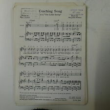 choral / vocal score COACHING SONG benjamin britten - the little sweep UNISON
