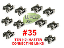 Ten Master Connecting Links #35 For Roller Chain #35, Go Karts, 4X4, Scooters