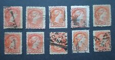 1870-1897 Small Queen Victoria Sc# 37-41 USED 3¢ - Lot of 10