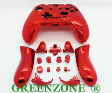 Red Chrome Xbox One Replacement Custom Controller Shell with Buttons Mod Kit