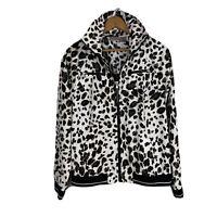 ZENERGY for CHICO'S Size 1 (M/8) Lightweight Animal Print Jacket Hideaway Hood