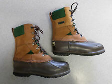 "L.L. Bean ""Bean Boots"" brown leather and rubber, hunting boots, Men's 7 Wide"
