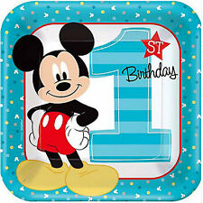MICKEY MOUSE Fun to Be One LARGE PAPER PLATES (8) ~ Birthday Party Supplies