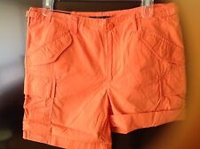 Polo Ralph Lauren Women's Poplin Cargo Shorts Sz 0 NWT$ 89.00 orange