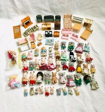 Huge Lot Of Calico Critters, Figures, babies, Clothes, furniture lot of 80+