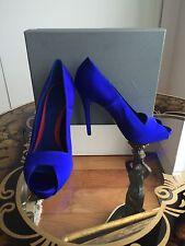 Nuevo En Caja Alexander McQueen Platón's Atlantis 2010 Azul Peep Toe Tacones SZ39.5/UK6.5