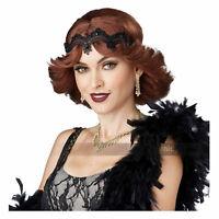 Womens Brunette Flapper Costume Wig Brown Glitz Glamour Flapper Gatsby '20s '30s