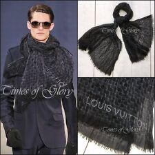 Louis Vuitton Mens RUNWAY Signature Damier Graphite CASHMERE SILK Long Scarf