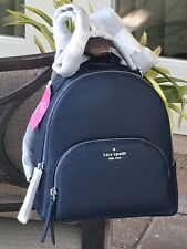 Kate Spade Jackson Navy Pebbled Leather Medium Backpack Wkru5946 Ret FS