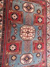 A FABULOUS OLD HANDMADE KARS TURKISH WOOL ON WOOL ORIENTAL RUG (215 x 150 cm