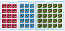 Mauritania Stamps #545-7 Set Archaeology Imperforate Sheets