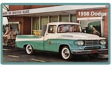 1958 Dodge Pickup Truck Refrigerator / Tool Box Magnet Gift Card Insert