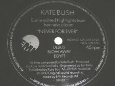 "7"" Flexi - Kate Bush Never for ever - Delius Blow away Egypt - UK Promo # 5898"