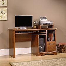 sauder camden county computer desk planked cherry finish new