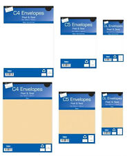 Self seal envelopes peel and seal white or manilla brown sizes DL, C5 & C4