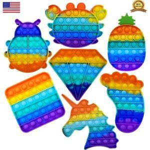 Push Pop Bubble Sensory Fidget Kids Toy It Special Needs Autism Silent Classroom