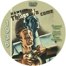 "Things to Come (1936) Sci-Fi and Horror ""B"" NR CULT Movie DVD"