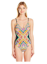 Trina Turk Women's Over The Shoulder One Piece Swimsuit, size 10