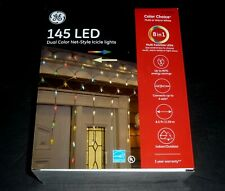 Ge Color Choice 145 Led Multi-function Dual Color Net-Style Icicle Lights 1 Box