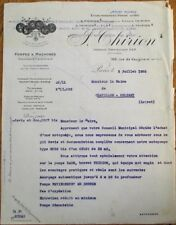 Firefighting/Fireman 1928 French Fire Pump Letterhead, 'Pompes Thirion'